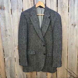 Harris Tweed | Wool Herringbone Half Lined Blazer